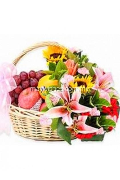 F02 Fruit & Flower Basket