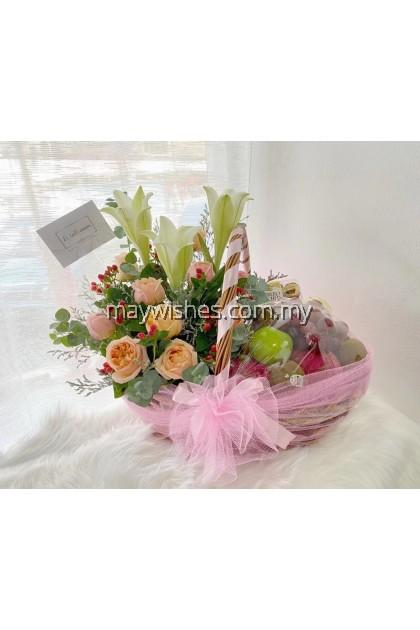 F04 Fruit & Flower Basket