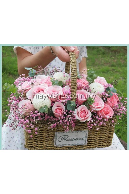 Flower Basket Pastel Colour