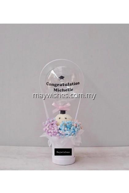 Graduation Bucket Flower 01